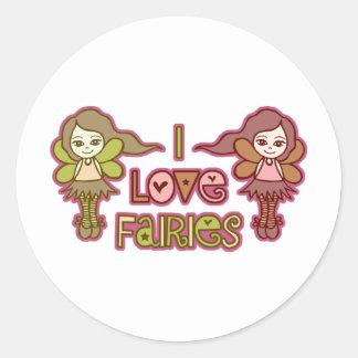 I Love Fairies Stickers