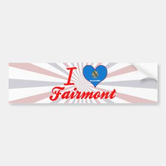 I Love Fairmont, Oklahoma Car Bumper Sticker