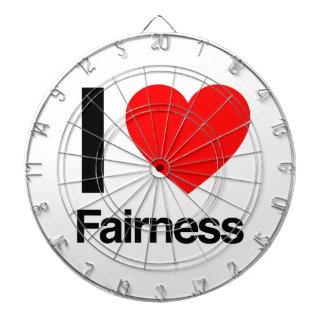 i love fairness dart board