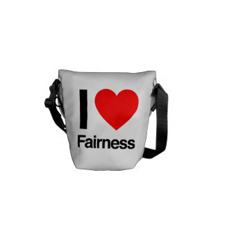 i love fairness messenger bag