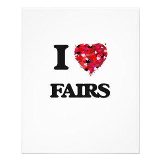 """I Love Fairs 4.5"""" X 5.6"""" Flyer"""