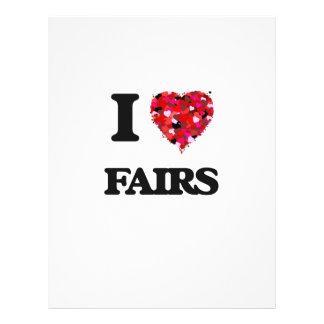 """I Love Fairs 8.5"""" X 11"""" Flyer"""