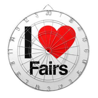 i love fairs dartboard with darts