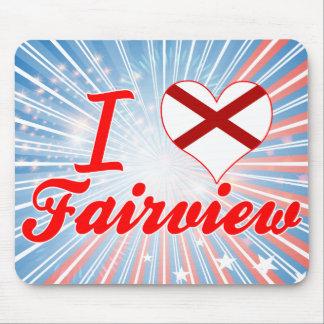 I Love Fairview, Alabama Mousepads