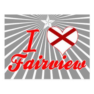I Love Fairview, Alabama Post Card