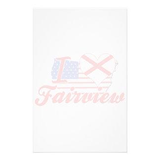 I Love Fairview, Alabama Stationery