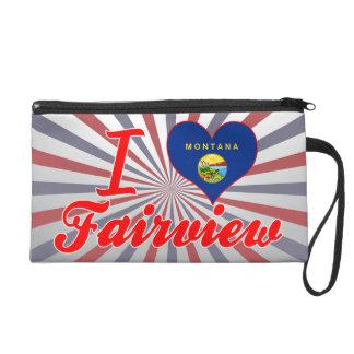 I Love Fairview, Montana Wristlet Purses