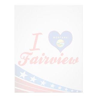 I Love Fairview, Montana Custom Letterhead