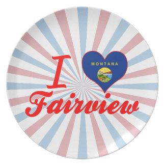 I Love Fairview, Montana Party Plates