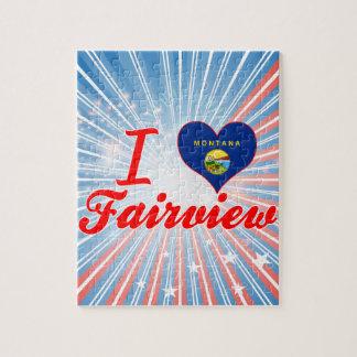 I Love Fairview, Montana Jigsaw Puzzle
