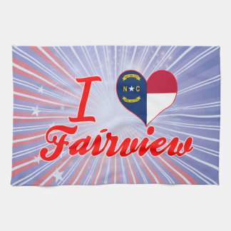 I Love Fairview, North Carolina Kitchen Towels