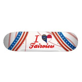 I Love Fairview, North Carolina Skate Board Deck