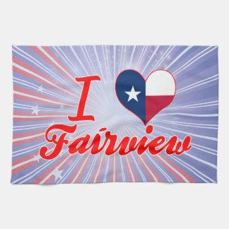I Love Fairview, Texas Towels