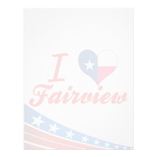 I Love Fairview, Texas Letterhead Design