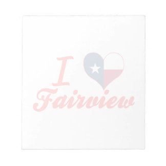 I Love Fairview, Texas Note Pad