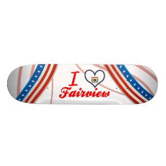I Love Fairview, West Virginia Skate Board Deck
