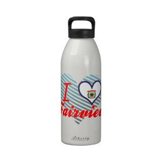 I Love Fairview, West Virginia Reusable Water Bottle