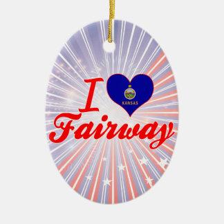 I Love Fairway, Kansas Christmas Tree Ornaments