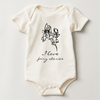 I Love Fairy Stories Baby Book One Piece T Gift Baby Bodysuit