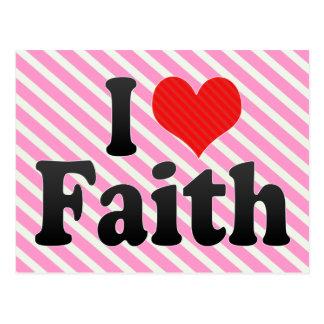 I Love Faith Postcard