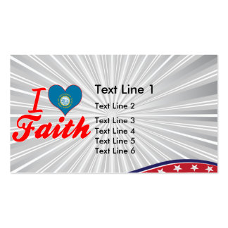 I Love Faith, South Dakota Double-Sided Standard Business Cards (Pack Of 100)