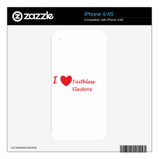 I love faithless Electors Decal For The iPhone 4