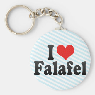 I Love Falafel Basic Round Button Keychain