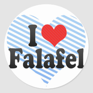 I Love Falafel Classic Round Sticker