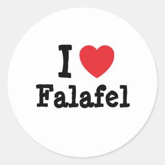 I love Falafel heart T-Shirt Stickers