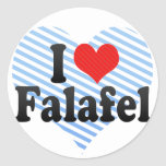 I Love Falafel Round Stickers