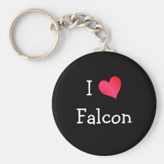 I Love Falcon Keychain