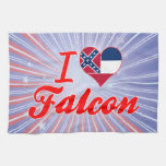 I Love Falcon, Mississippi Hand Towels