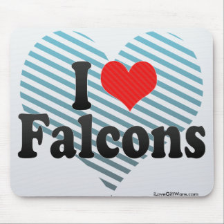 I Love Falcons Mouse Pads