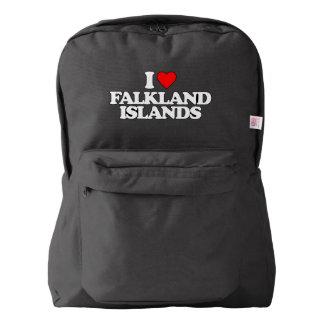 I LOVE FALKLAND ISLANDS AMERICAN APPAREL™ BACKPACK