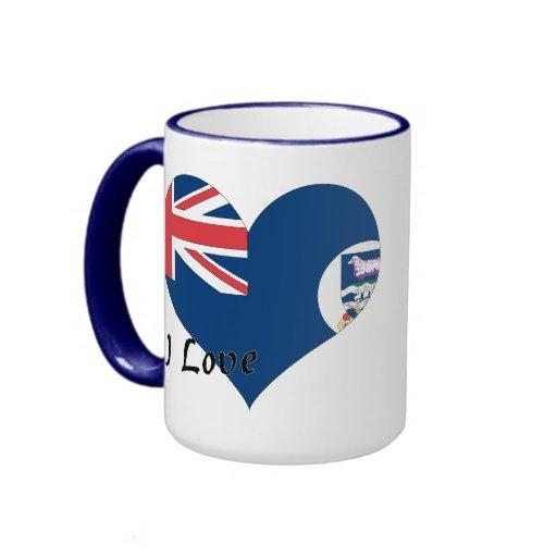 I Love Falkland Islands Coffee Mug