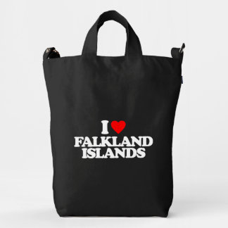 I LOVE FALKLAND ISLANDS DUCK BAG