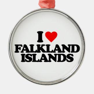 I LOVE FALKLAND ISLANDS ORNAMENT