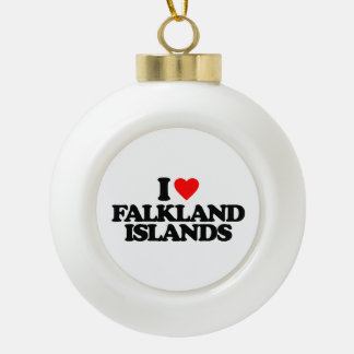 I LOVE FALKLAND ISLANDS ORNAMENTS