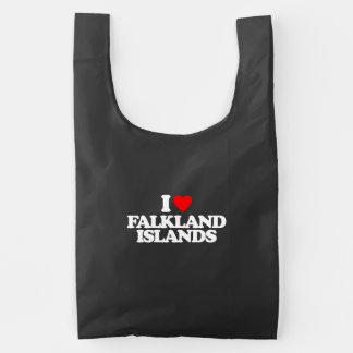 I LOVE FALKLAND ISLANDS REUSABLE BAG