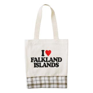 I LOVE FALKLAND ISLANDS ZAZZLE HEART TOTE BAG