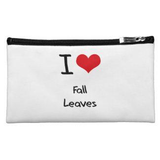 I Love Fall Leaves Cosmetic Bag