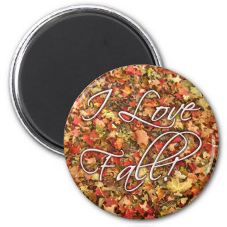 """I Love Fall"" Leaves Magnet"