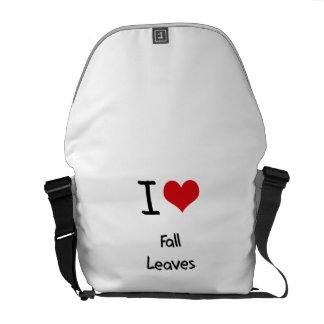 I Love Fall Leaves Messenger Bags