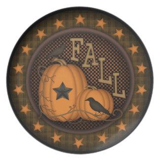 I love Fall Pumpkin Crow Plate