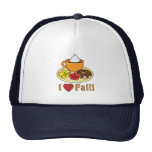 I Love Fall with Coffee and Cookies Trucker Hat