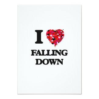 I love Falling Down 5x7 Paper Invitation Card