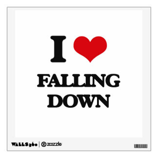 I love Falling Down Wall Decals