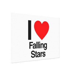 i love falling stars canvas print
