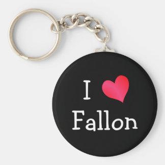 I Love Fallon Keychain