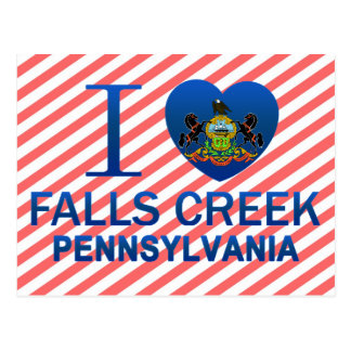 I Love Falls Creek, PA Postcard
